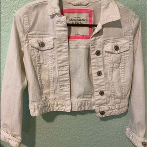 Abercrombie & Fitch white jean jacket